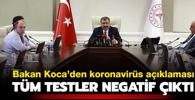 Koronavirüs Türkiye'ye gelir mi? Sağlık Bakanı Koca'dan flaş açıklama