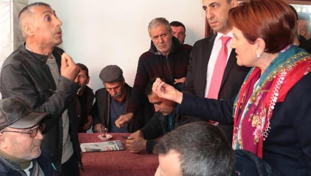 Kahvehanede Akşener'e HDP tepkisi!