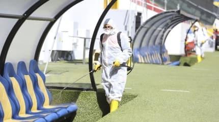 Ankaragücü - Çaykur Rizespor maçı öncesi koronavirüs önlemi