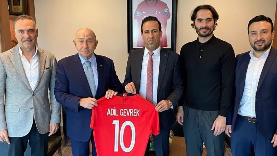 Adil Gevrek, TFF Başkanı Nihat Özdemir'i ziyaret etti