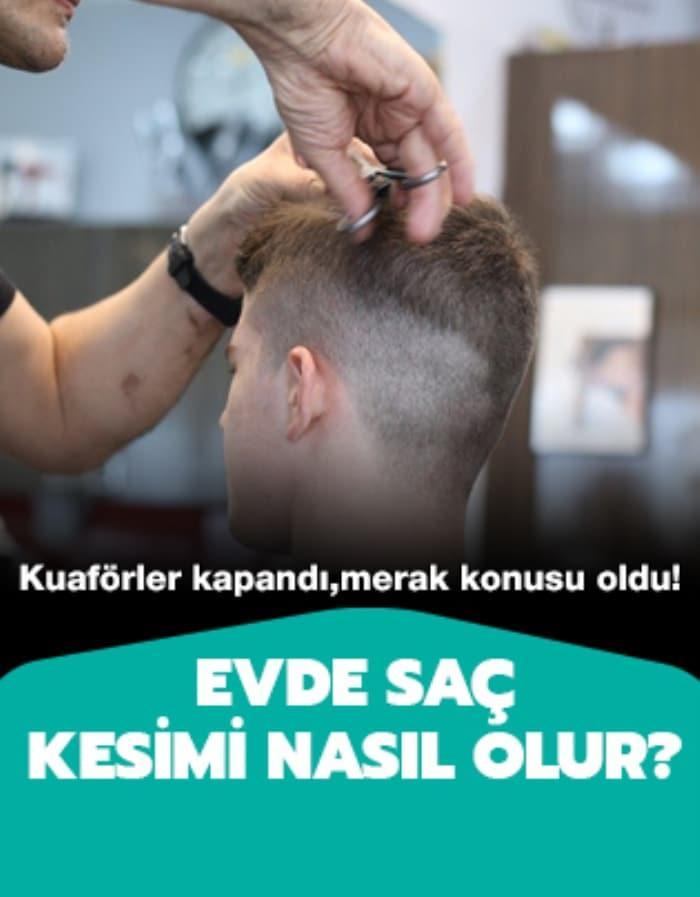 Evde saç kesimi nasıl olur?