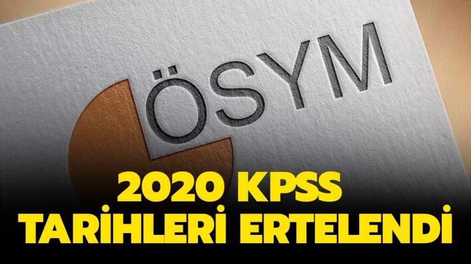 """KPSS ertelendi mi"""" Son dakika KPSS tarihleri ne oldu"""" İşte yeni KPSS tarihleri 2020!"""