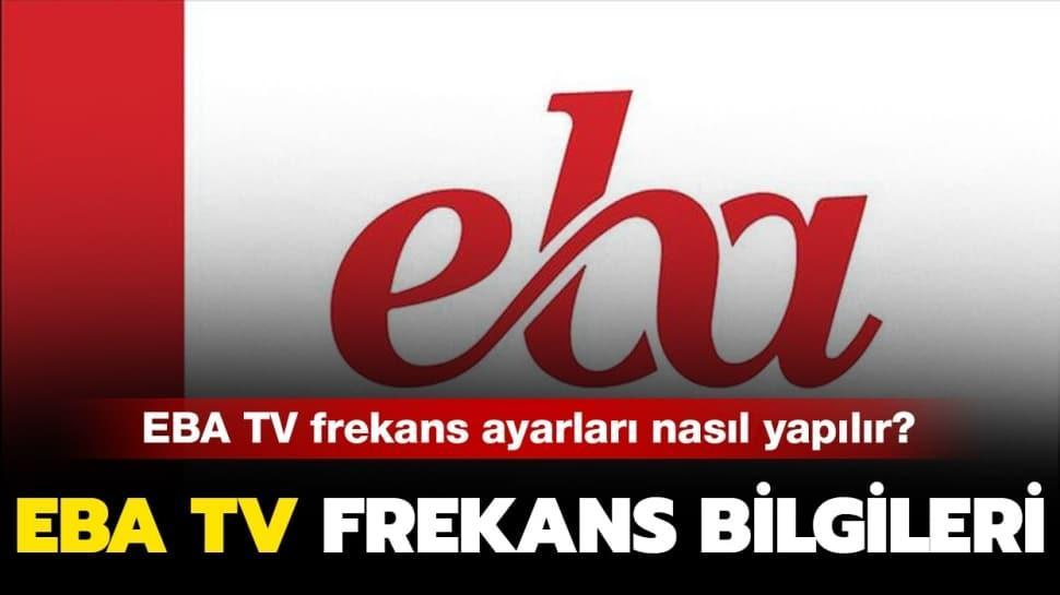 """TRT EBA TV frekans bilgileri nedir"""" EBA TV frekans ayarlama nasıl yapılır"""" Detaylar haberimizde..."""