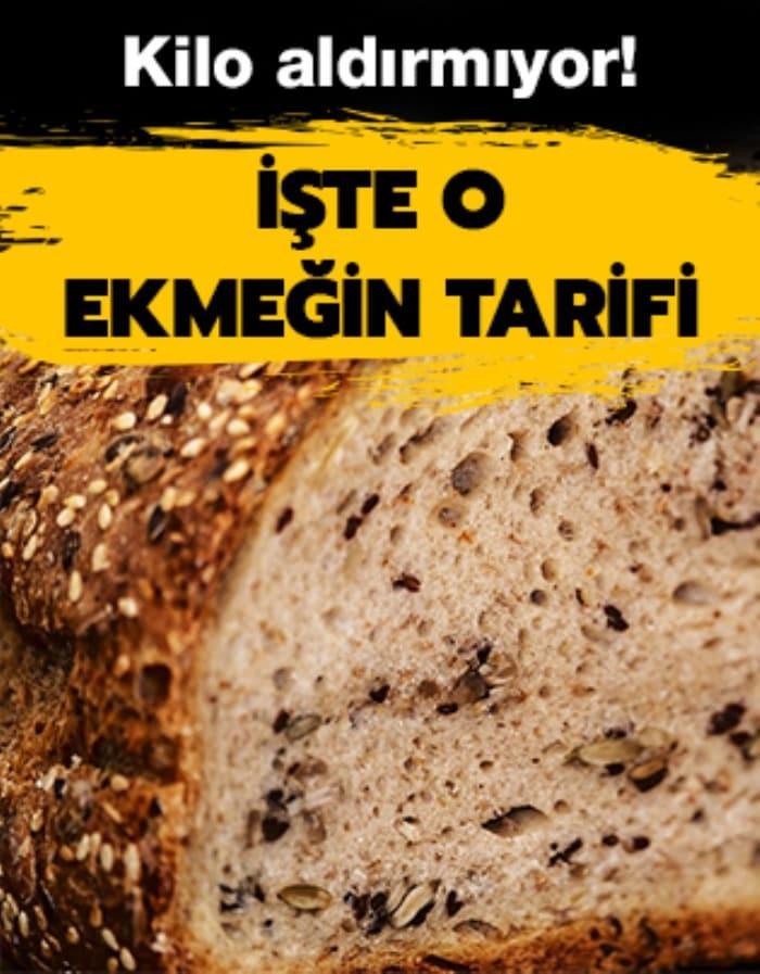 Kilo aldırmayan çekirdekli ekmek tarifi