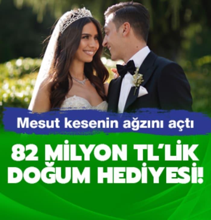Mesut Özil'den Amine Gülşe'ye 82 milyon TL'lik doğum hediyesi!