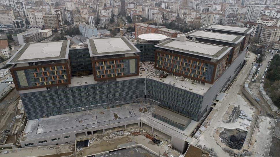 Başkan Erdoğan'ın müjdesini verdiği Göztepe Şehir Hastanesi havadan görüntülendi