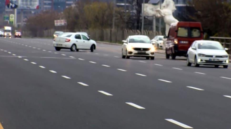 Ankara'da denetime girmek istemeyen sürücüler ters yönde ilerledi