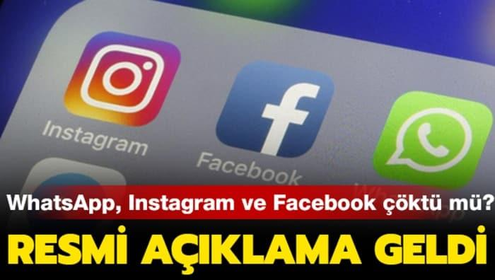 WhatsApp, Facebook ve Instagram'a erişim sorunu!
