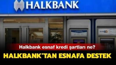 Halkbank 25 bin TL esnaf kredi başvurusu nasıl yapılır? Halkbank esnaf kredi şartları ne?