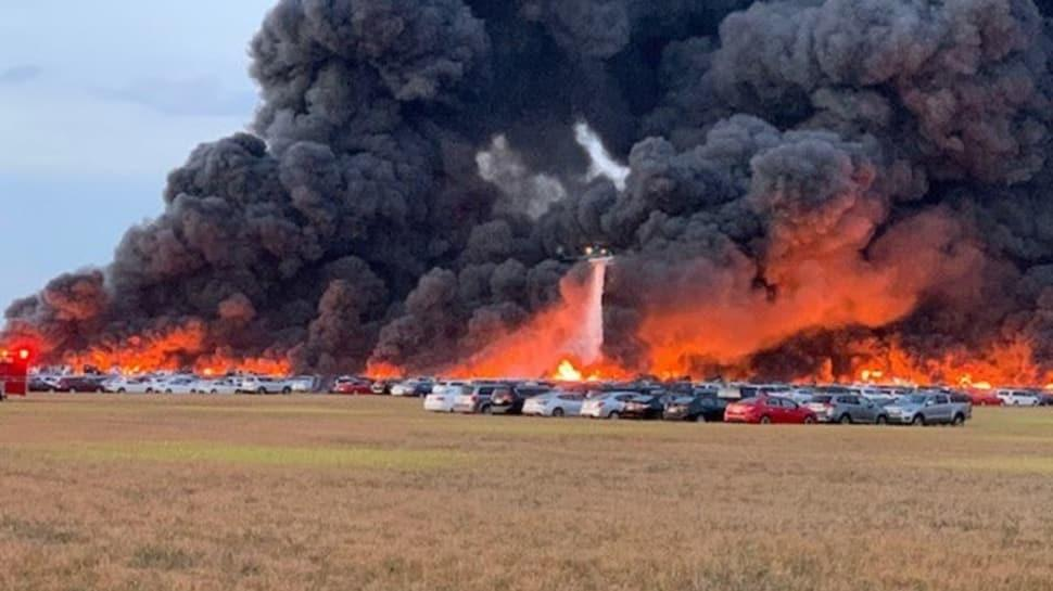 18 saat süren korkunç yangın 3 bin 500 aracı küle çevirdi