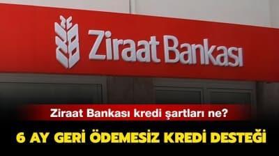 Ziraat Bankası temel ihtiyaç kredisi nasıl alınır? Ziraat Bankası 6 ay ödemesiz kredi başvuruları başladı mı?