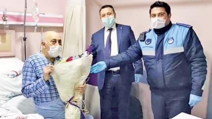 Zabıta, Burhan Amca'yı hastanede de bırakmadı