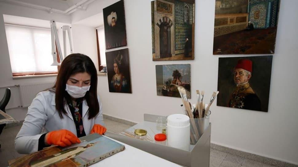 Topkapý Sarayý'nýn deposunda muhafaza edilen tablolar sanatseverlerle buluþacak