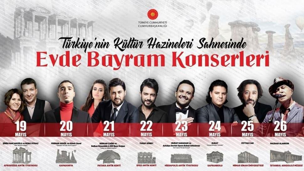 Türkiye'nin kültür hazineleri sahnesinde 'Evde Bayram Konserleri'