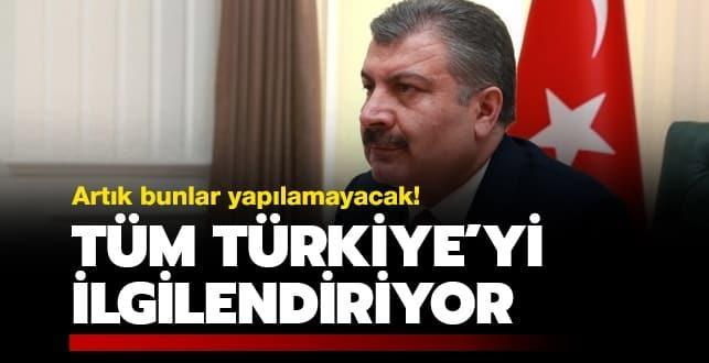 Tüm Türkiye'yi ilgilendiriyor! Artık bunlar yapılamayacak