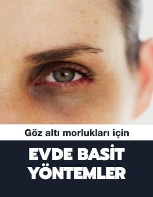 Göz altı morluklarını yok etme yöntemleri