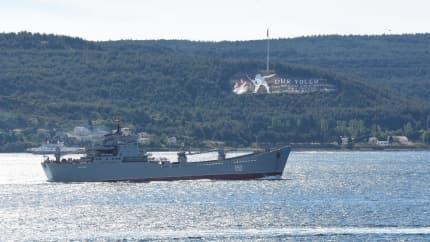 Rus savaş gemisi 'Saratov', Çanakkale Boğazı'ndan geçti