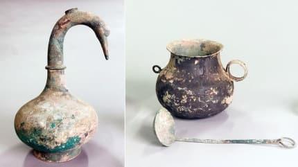 Mezarda 2 bin yıllık Çin testisi bulundu