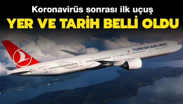 THY'nin ilk uçuşu Ankara'ya!