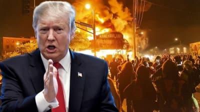 Trump'tan protestoculara gözdağı: Onları köpekler ve silahlar karşılardı!