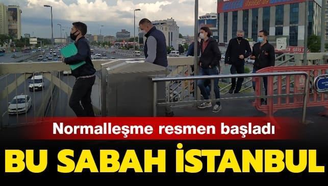 Normalleşme sabahında İstanbul böyle görüntülendi