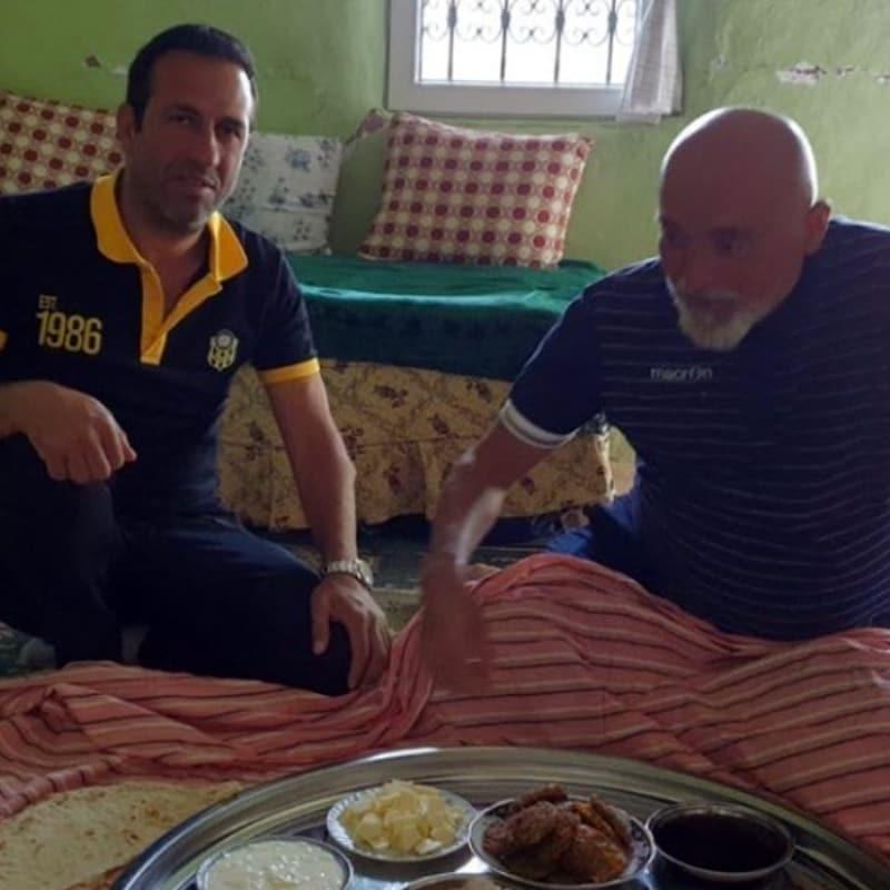 Adil Gevrek, Hikmet Karaman'ı evinde ağırladı