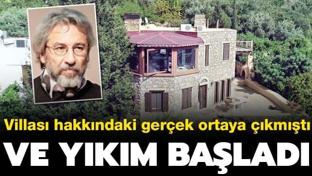 Firari Can Dündar'ın villasında yıkım başladı