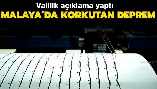 Son dakika deprem haberi: Malatya'da şiddetli deprem!