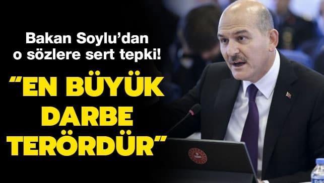 Bakan Soylu: Siyasete en büyük darbe terördür