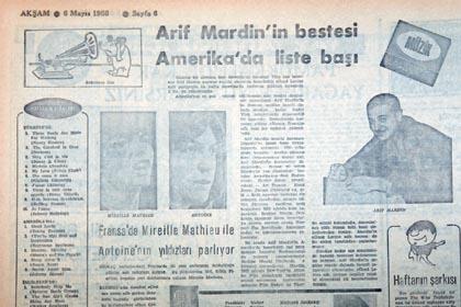 Arif Mardin ABD'de 1 No'ya y�kseldi