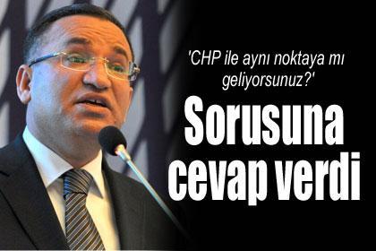 'CHP ile aynı noktaya mı geliyorsunuz' sorusuna cevap verdi